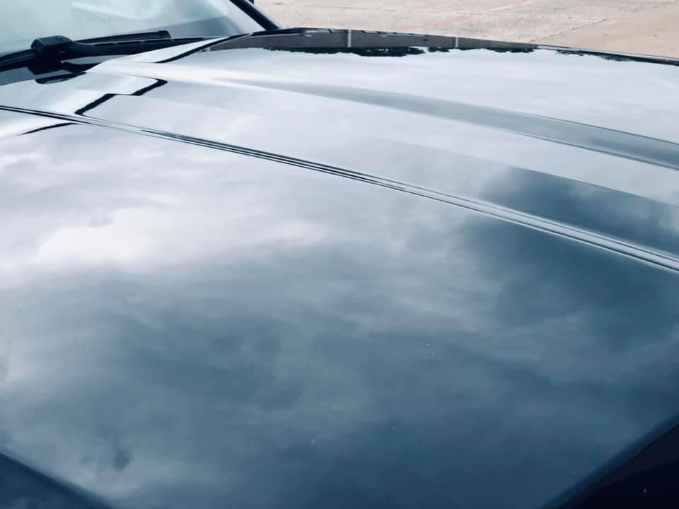 hood after car dent repair