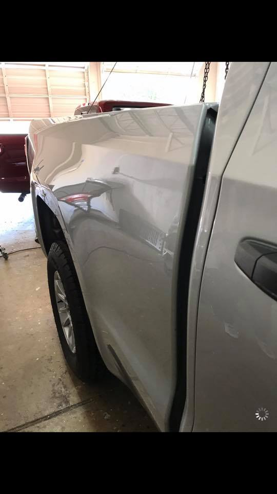 chevy after car dent repair