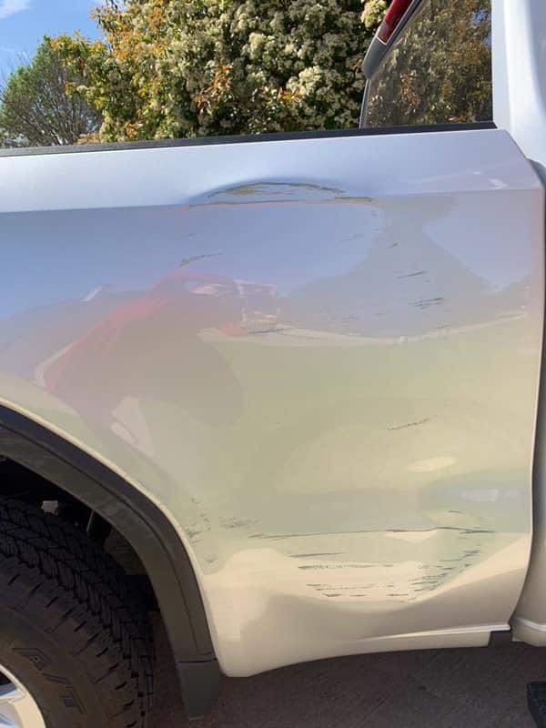 chevy before car dent repair