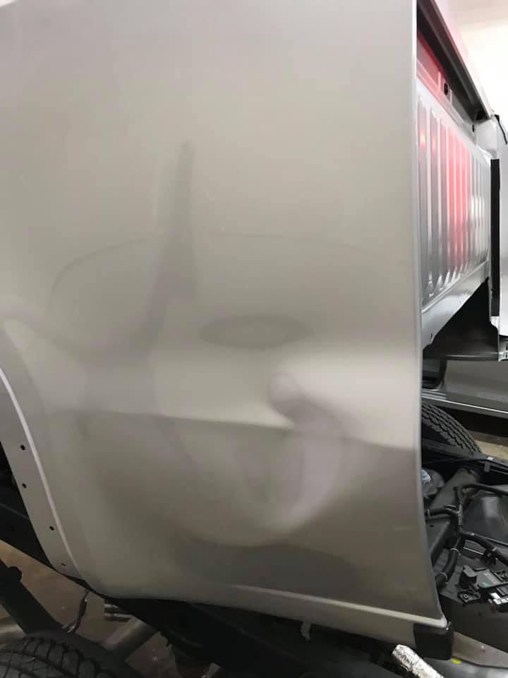car truck dent
