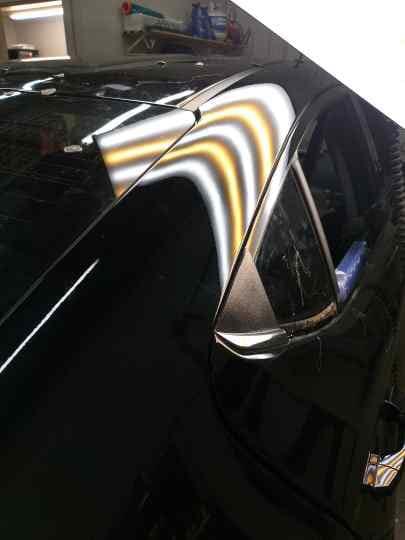 black car hood