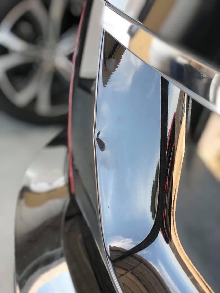 car dent back bumper