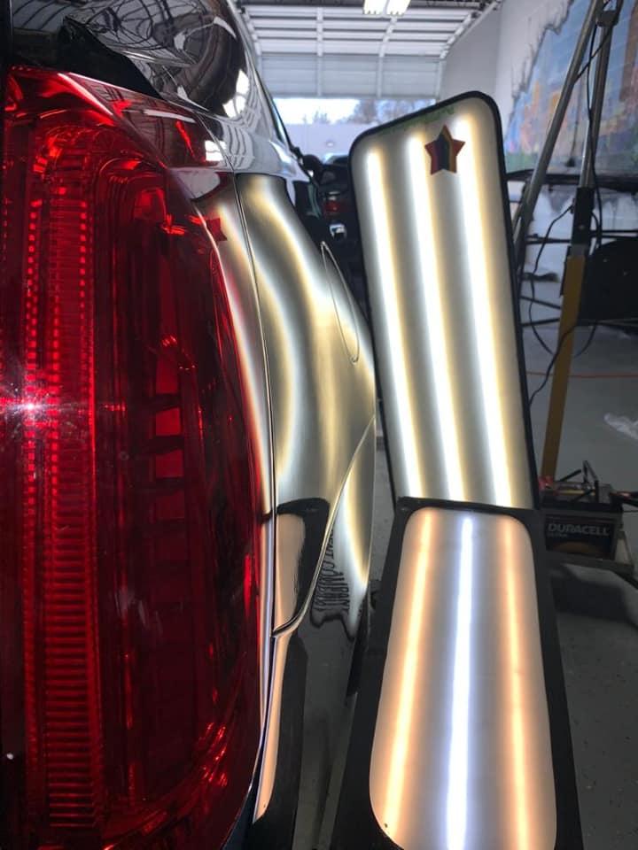 lighting car